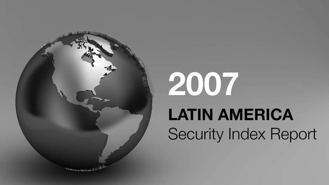 Frank Holder 2007 Latin America Security Index Report